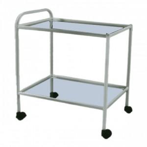 Столик процедурный СПп-01 МСК-501-02М, металл, стекло/нержавейка