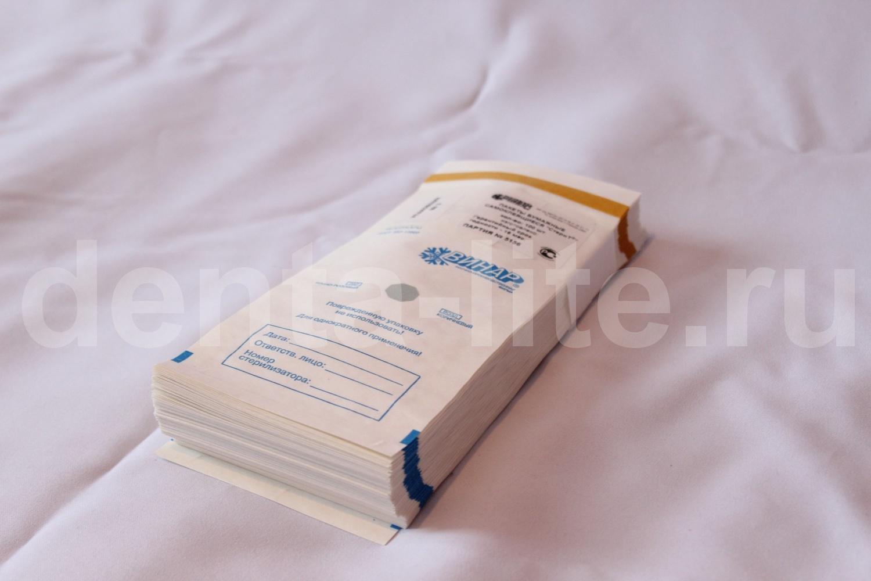 пачка из 100 крафт пакетов для стерилизации