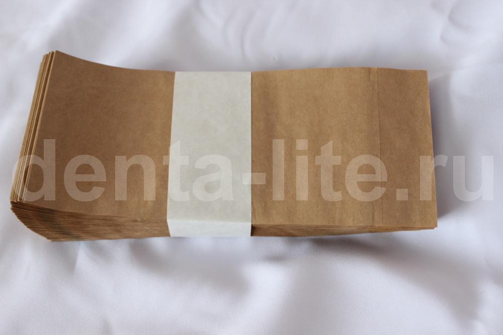 тыльная сторона крафт пакетов 100Х200 коричневых